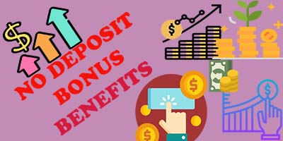 No deposit bonus benefits image