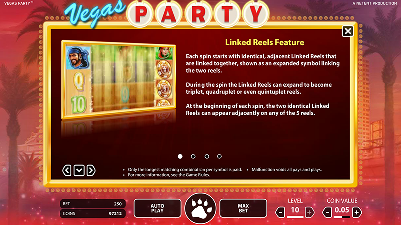 Vegas Party Slot Table