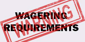 Wagering requirements image